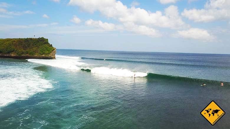 Bali oder Lombok Surfen Balangan Beach