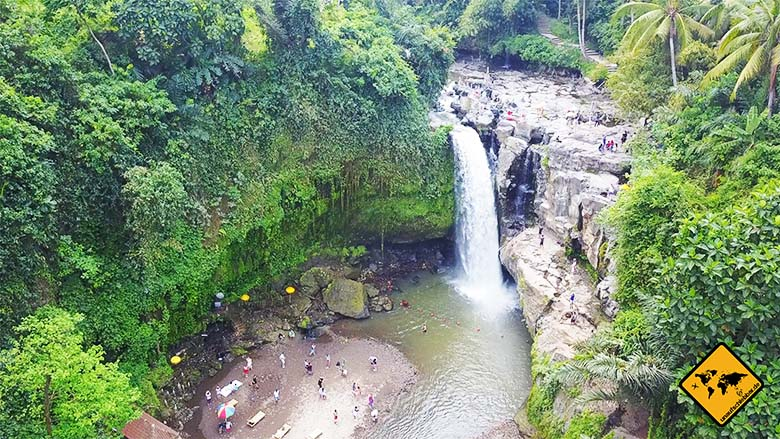 Bali und Lombok Wasserfälle Tegenungan