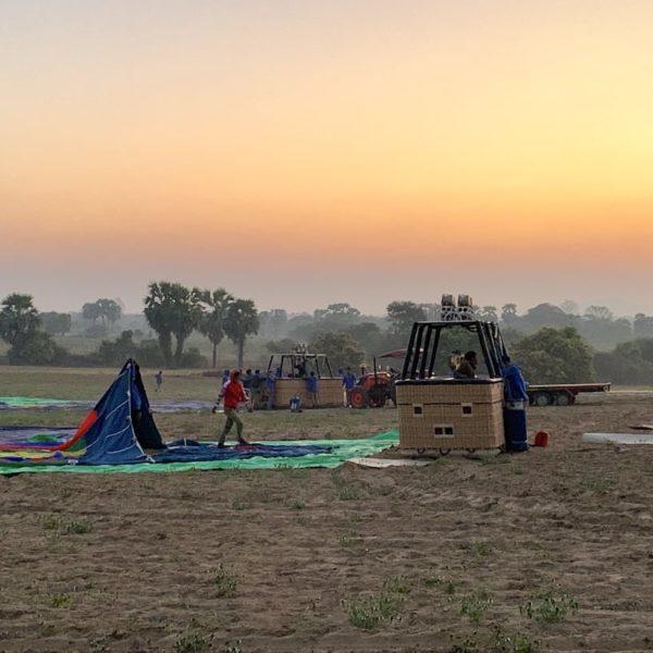 Ballon Bagan Aufbau
