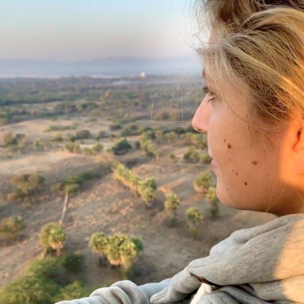 Ballonfahrt Bagan Ausblick Landschaft