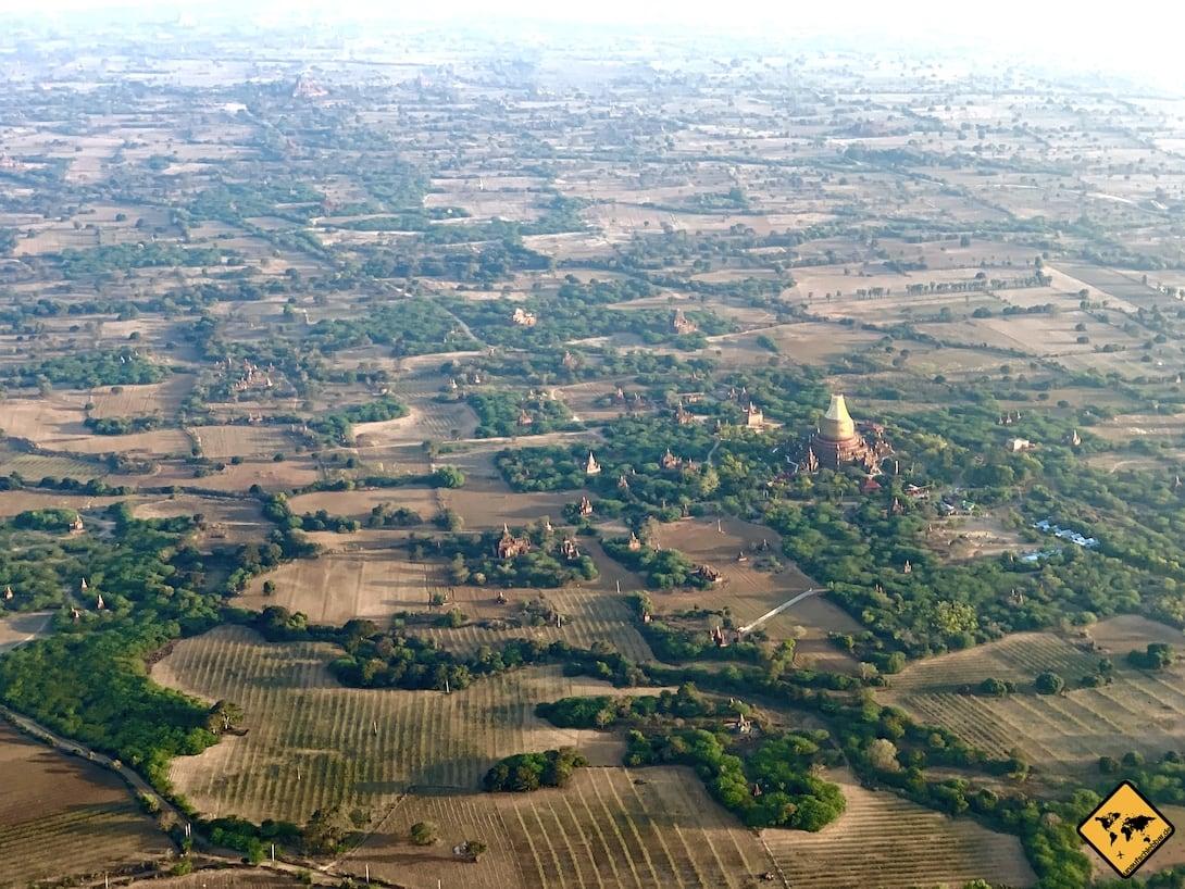 Ballonfahrt Bagan Dhammayazika Tempel