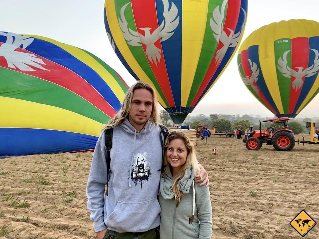 Ballonfahrt Bagan Kleidung
