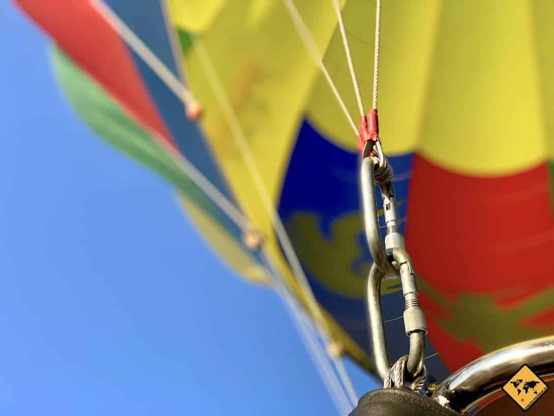 Ballonfahrt Bagan Sicherheit Haken