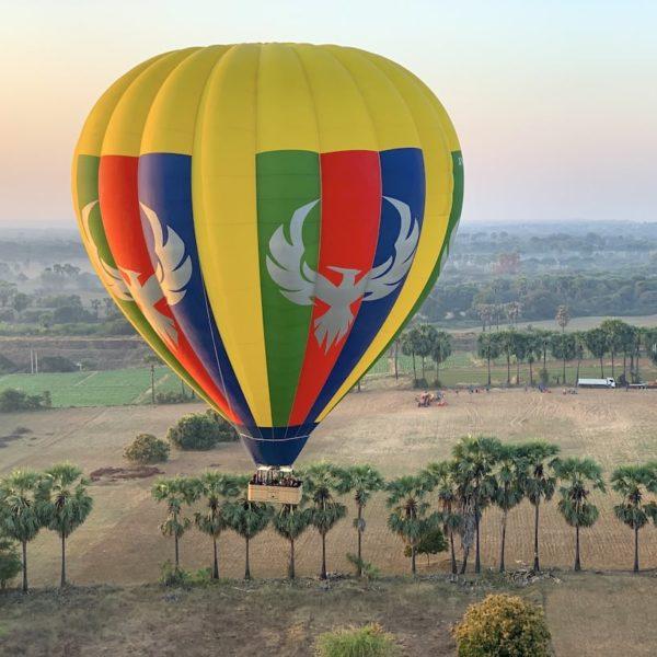 Ballonfahrt Bagan Tiefflug