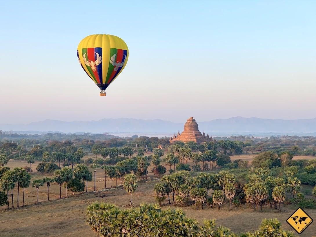 Ballonflug Bagan Myanmar Pagode