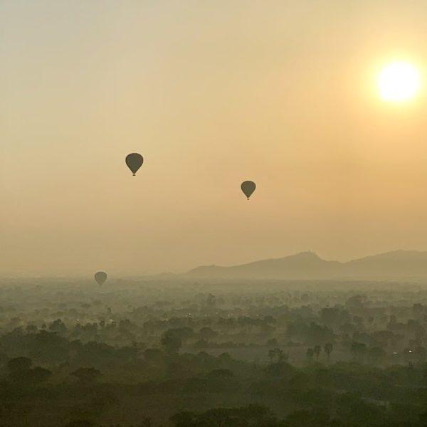 Ballons Bagan Sonnenaufgang