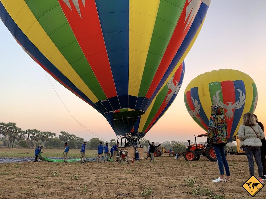 Ballons Bagan dicke Kleidung