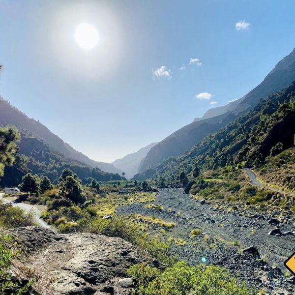 Barranco de las Angustias Wanderweg Bachbett ausgetrocknet