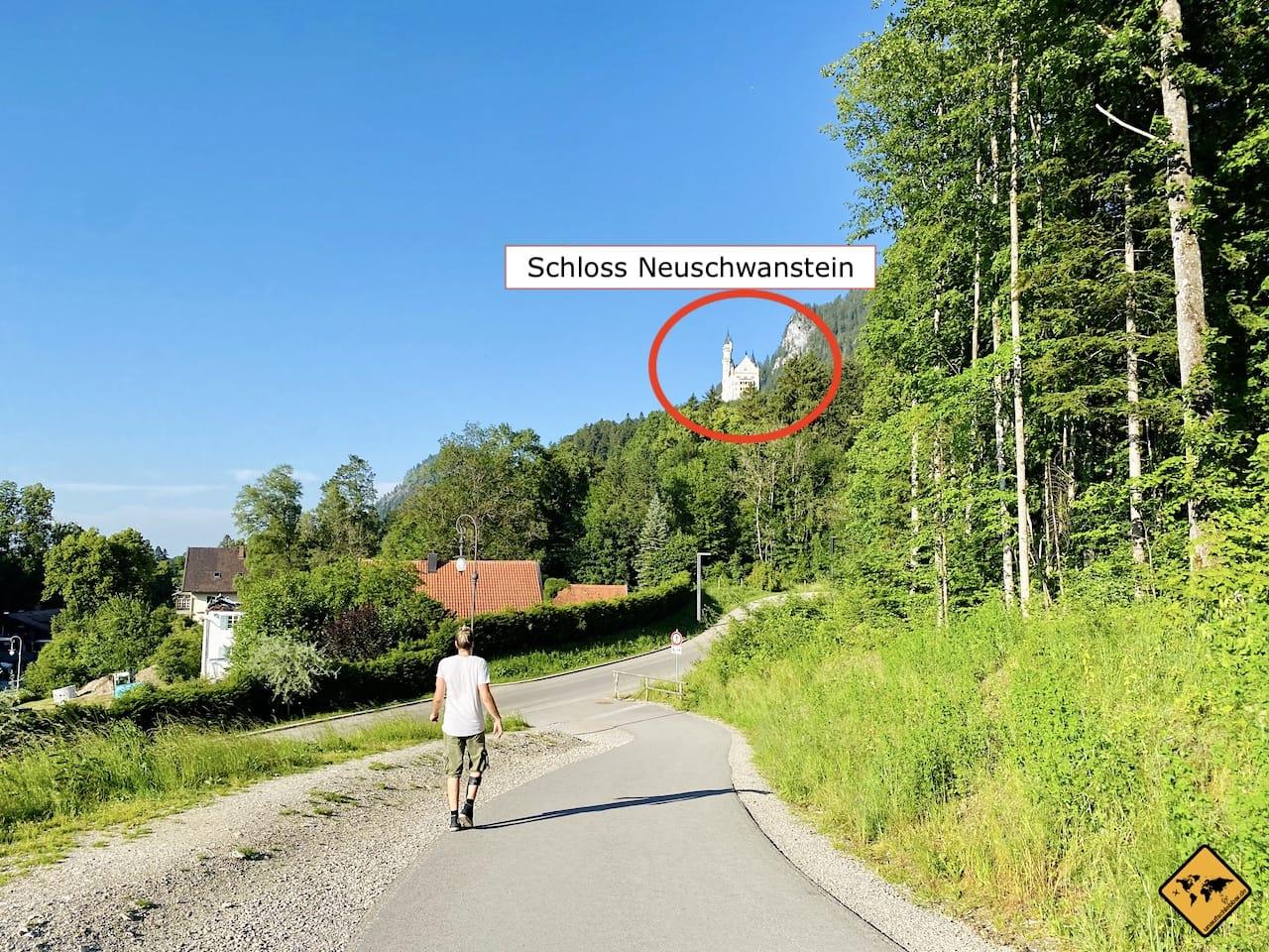 Barrierefreier Weg zu Schloss Neuschwanstein