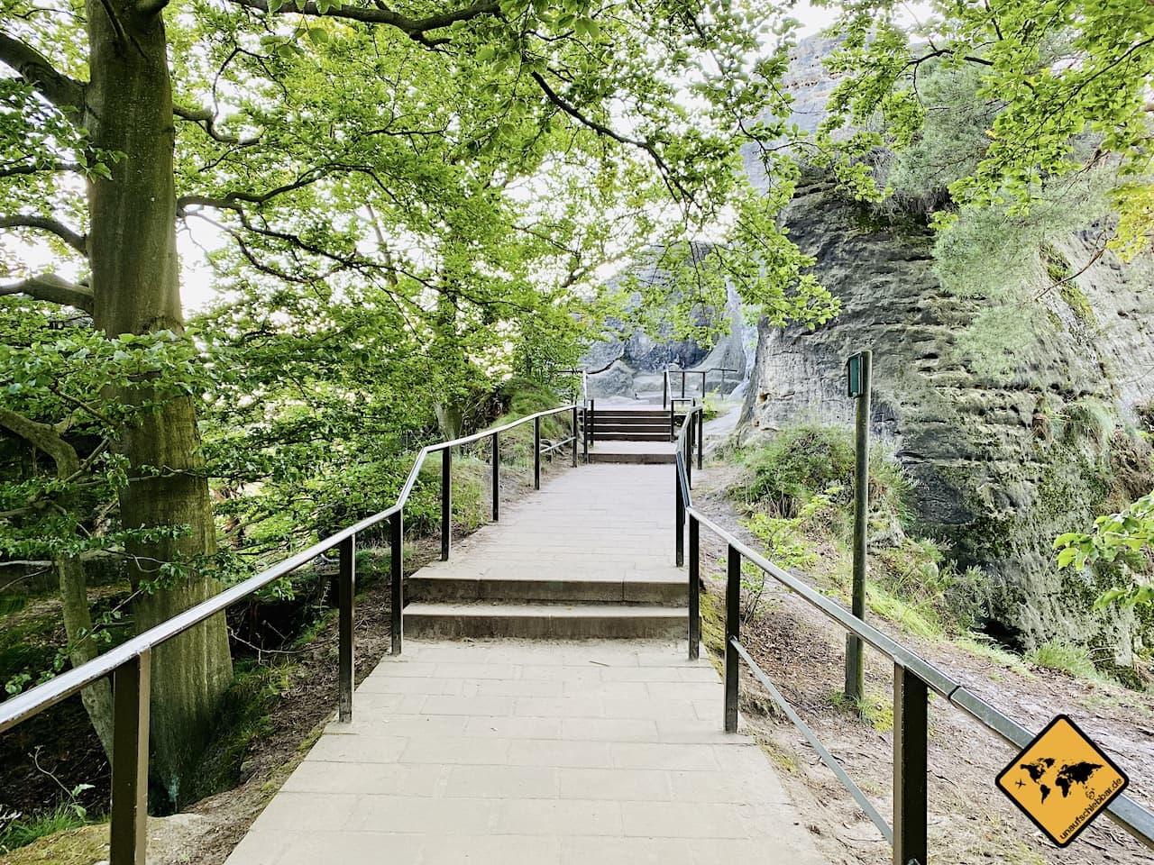 Barrierefreiheit Basteibrücke