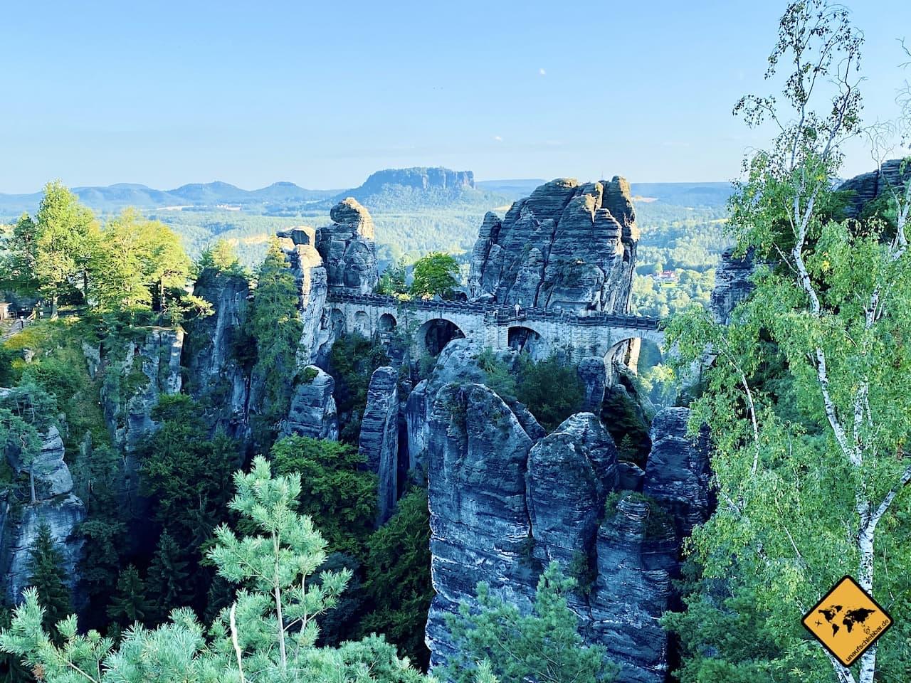 Basteibrücke 76,5 Meter lang