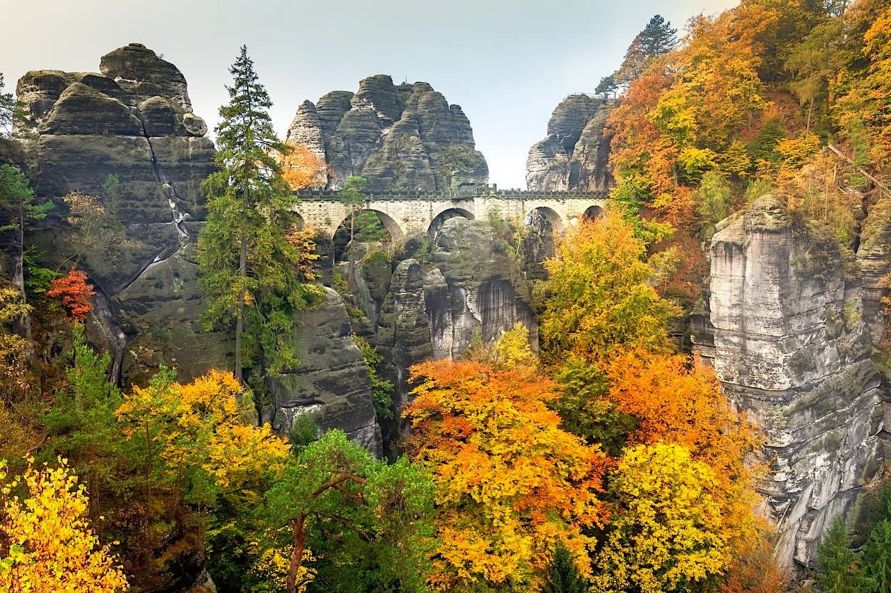 Basteibrücke Herbst