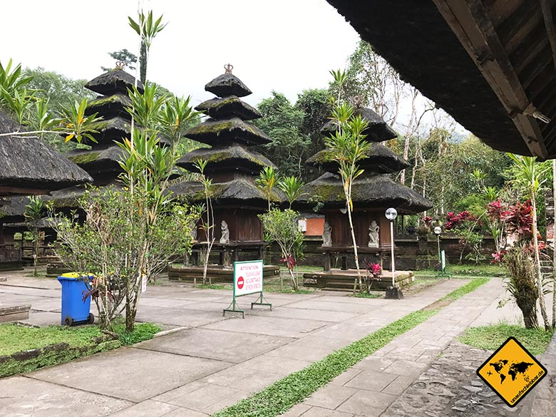 Batukaru Temple Bali Zugangsverbote