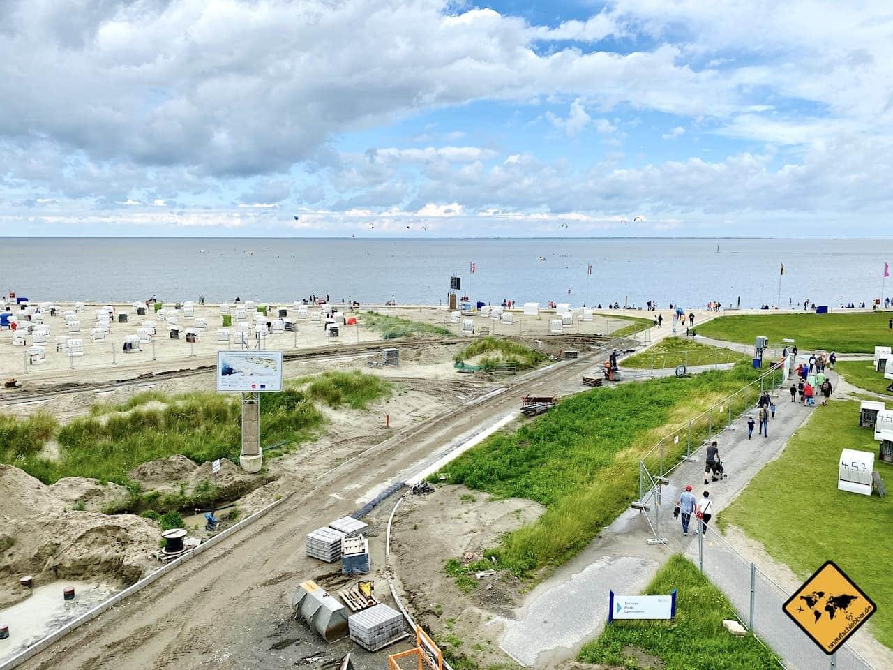 Baustelle Strand Norddeich 2021