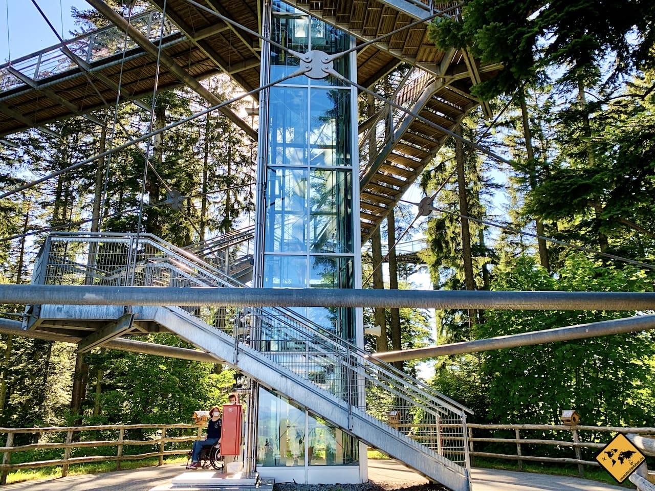 Bayern Skywalk Aufzug Barrierefreiheit
