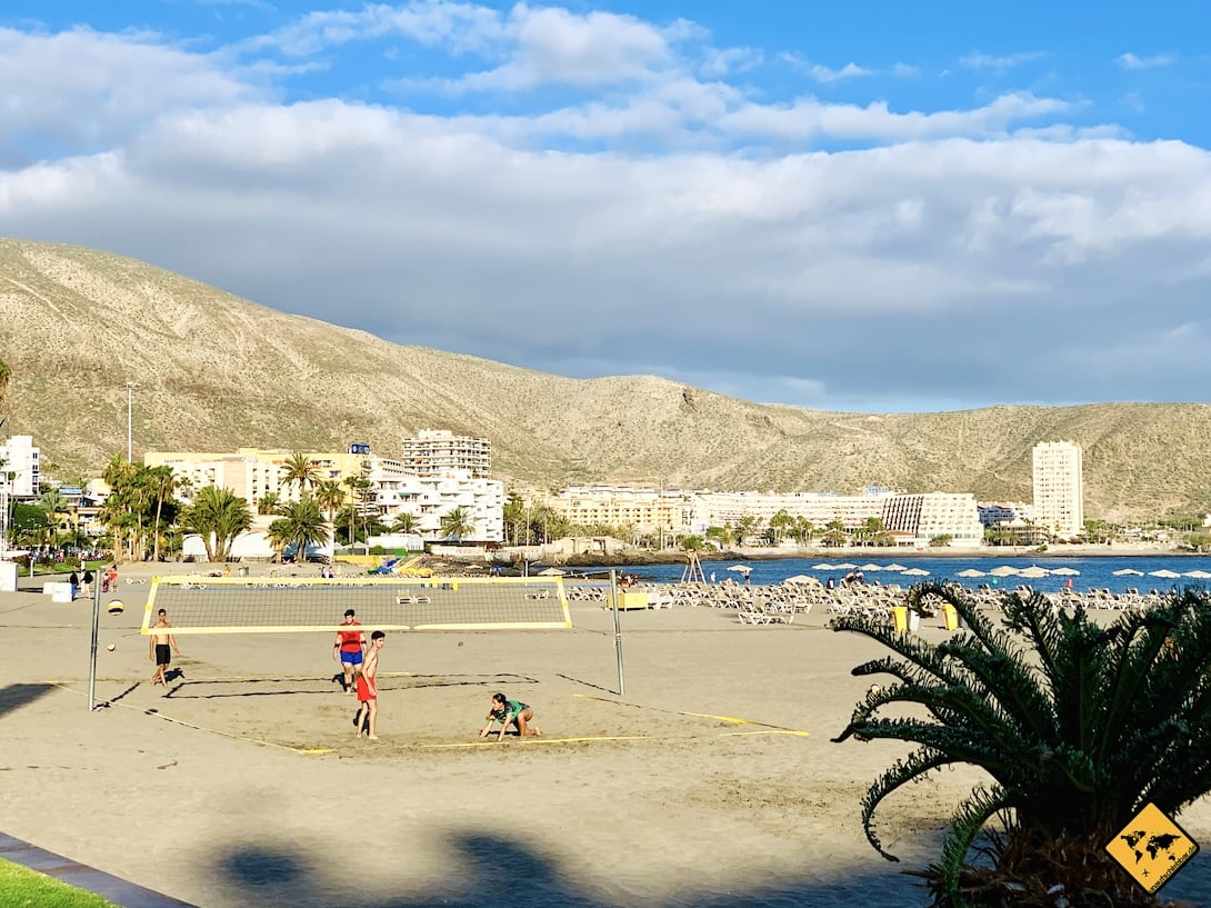 Beach-Volleyball Playa de Los Cristianos Teneriffa