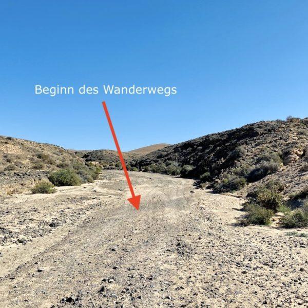 Beginn Wanderung Barranco de los Enamorados Fuerteventura