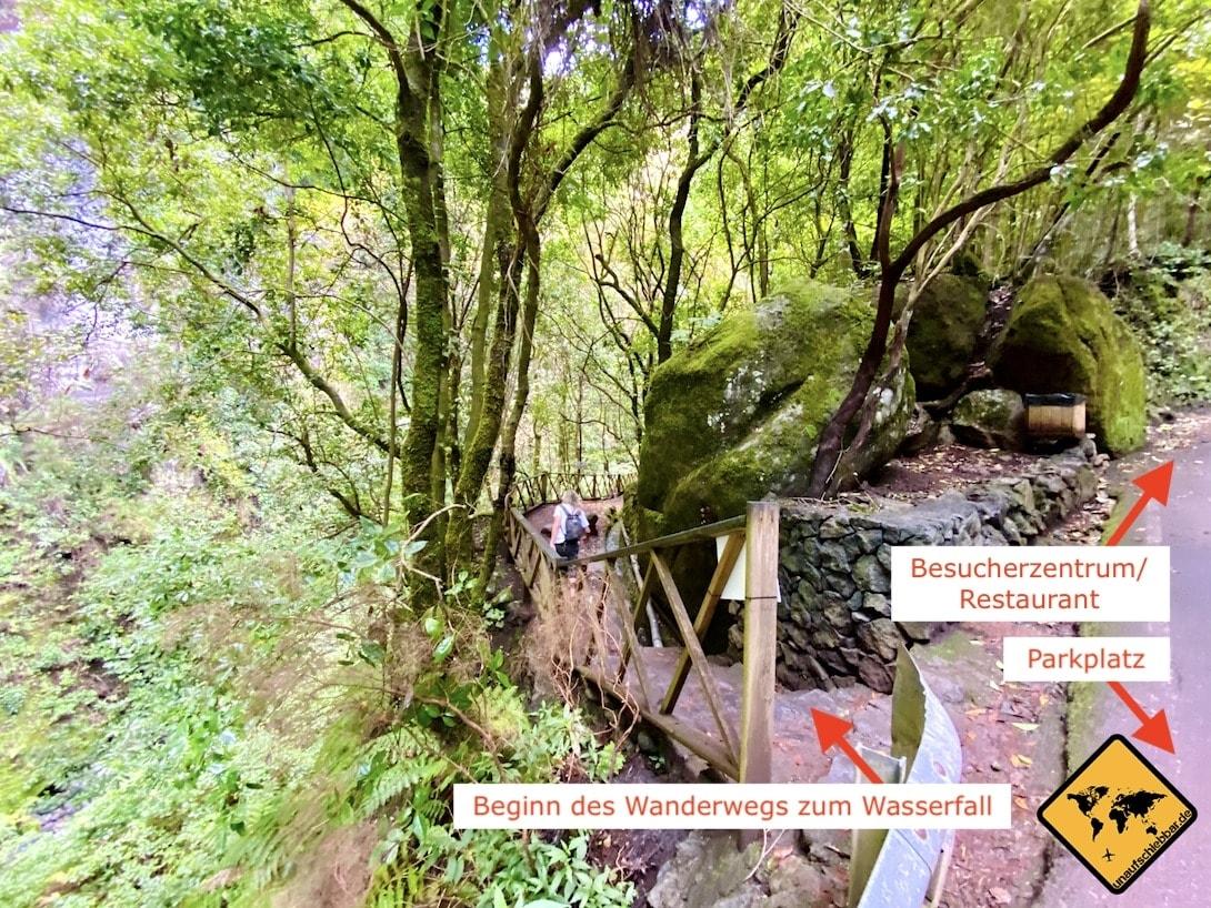 Beginn Wanderweg Cascada De Los Tilos