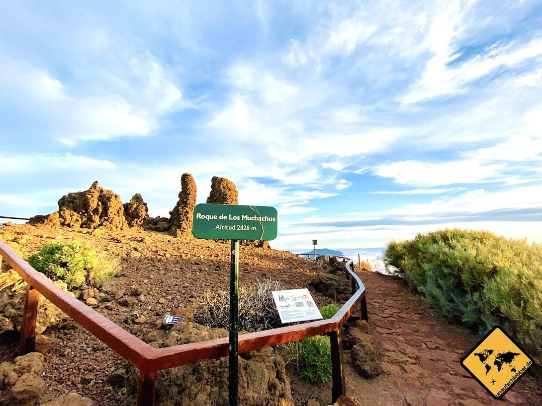 Beginn Wanderweg Mirador del Roque de los Muchachos La Palma