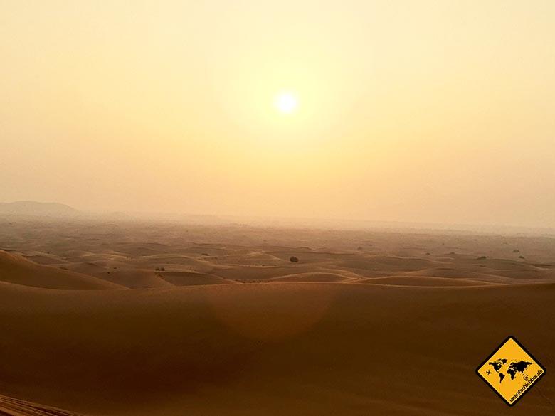 Bei der Schönheit der Dubai Wüste fehlen uns die Worte