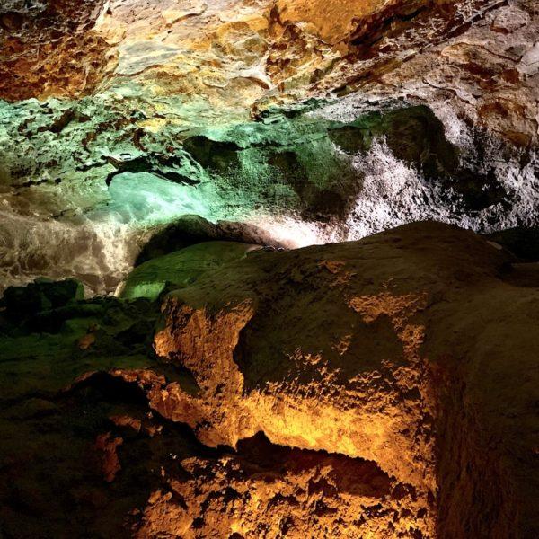 Beleuchtung Lavahöhle Lanzarote