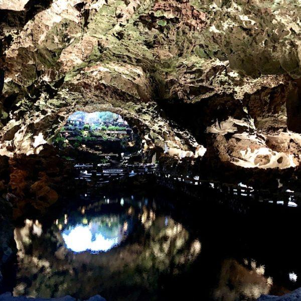 Beleuchtung Lavatunnel Jameos del Agua Lanzarote