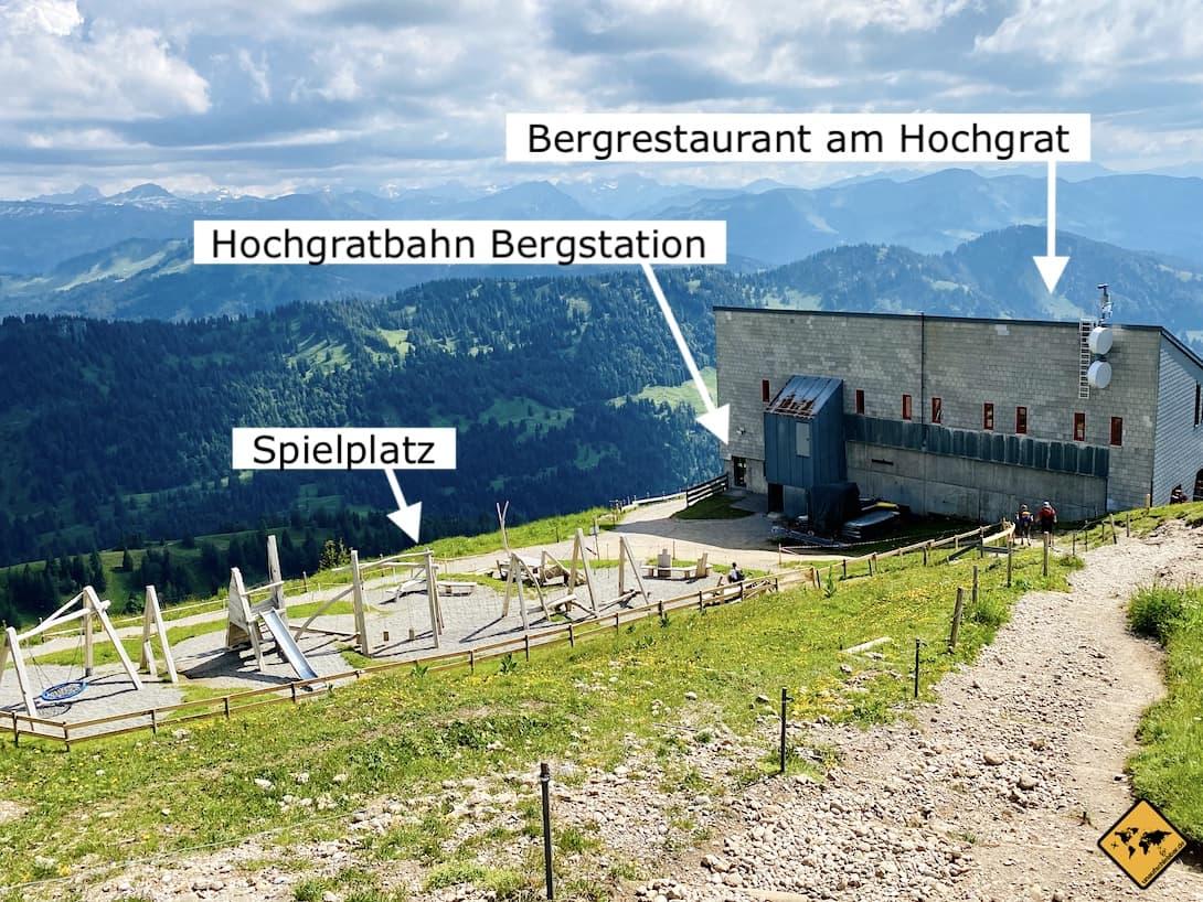 Bergstation Spielplatz Hochgratbahn