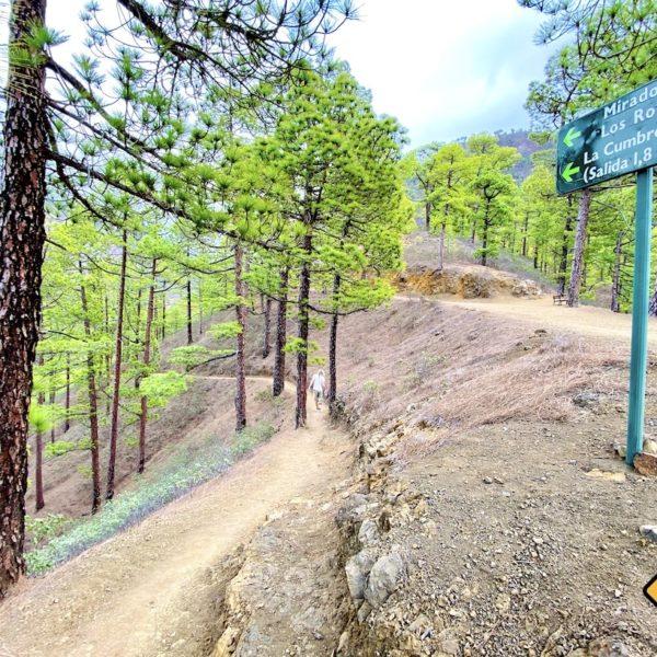 Beschilderung Wanderwege Mirador de la Cumbrecita