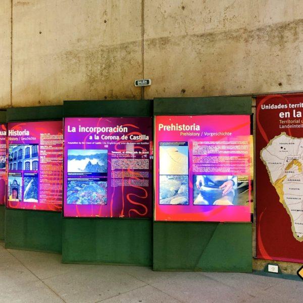 Besucherzentrum Nationalpark Caldera de Taburiente Infotafeln