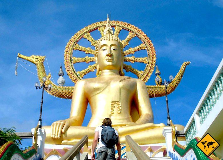 Big Buddha Koh Samui Aufstieg