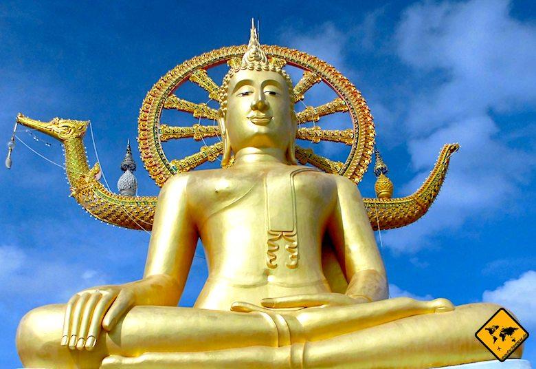 Big Buddha Koh Samui Lebensrad Schiff Mara Haltung