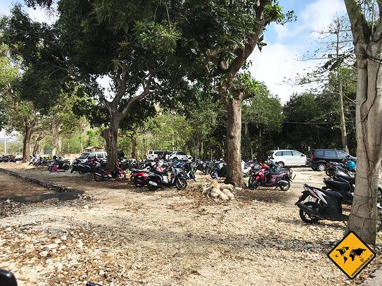 Bingin Bali Parkplatz