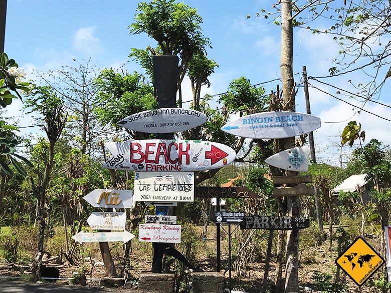 Bingin Beach Bali Einfahrt