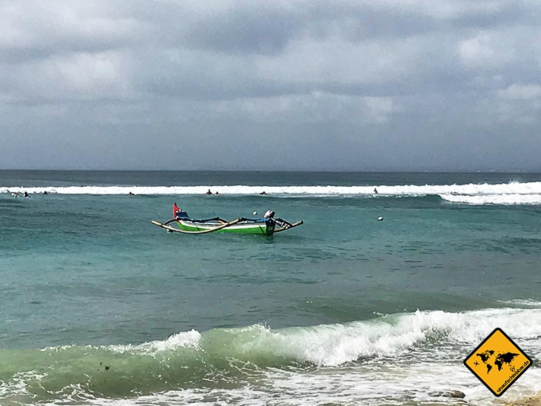 Bingin Beach Bali Fischerboot