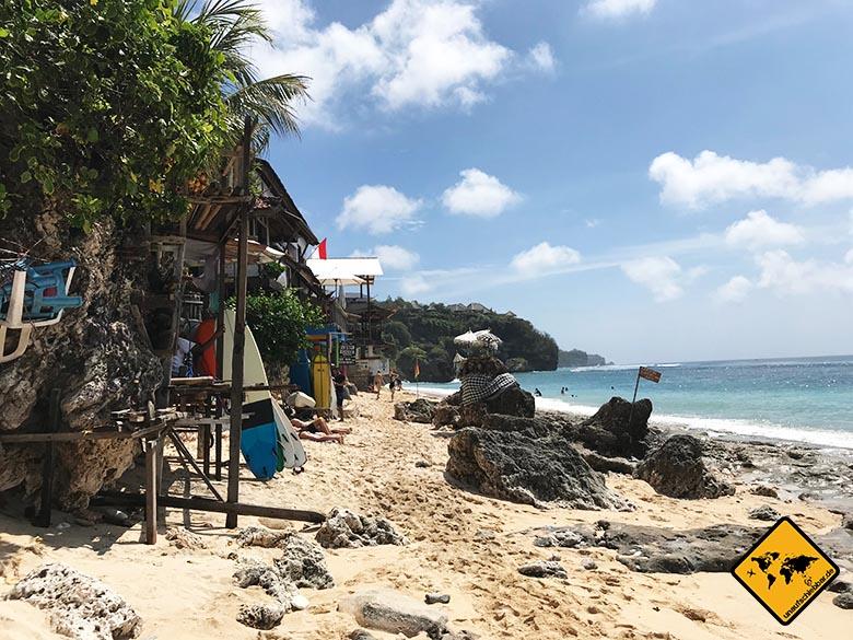 Bingin Beach Bali Steine Beginn
