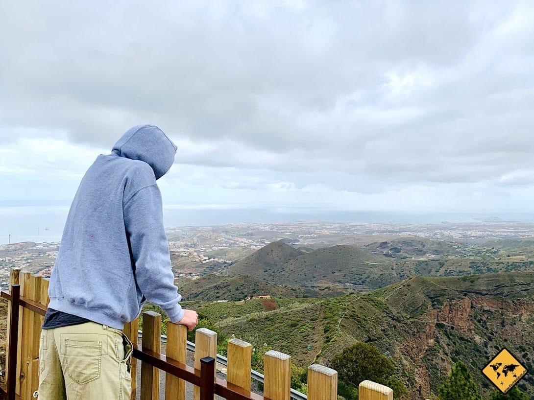 Blick Vulkankrater Naturpark Bandama Gran Canaria