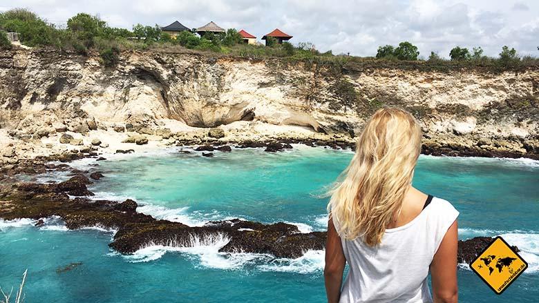 Blue Lagoon Nusa Ceningan Ausblick seitlich