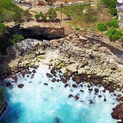 Blue Lagoon Nusa Ceningan Vogelperspektive