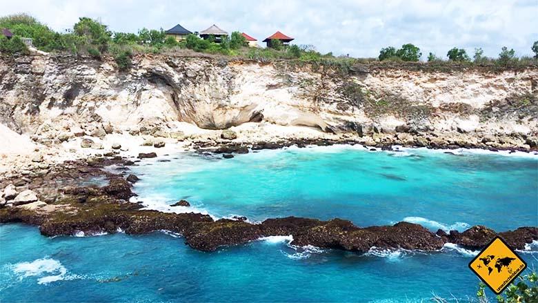 Blue Lagoon Nusa Ceningan seitlicher Aussichtspunkt