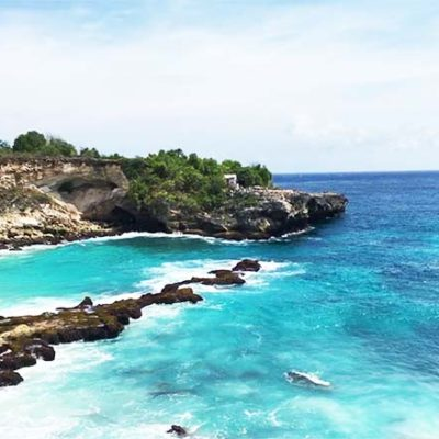 Blue Lagoon Nusa Ceningan vom Aussichtspunkt