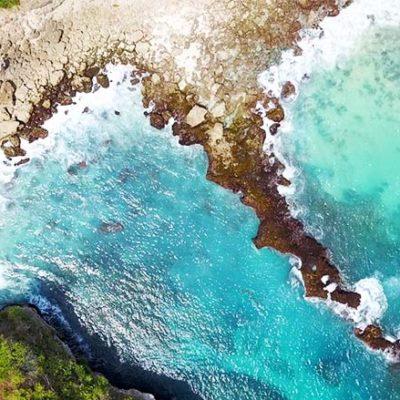 Blue Lagoon Nusa Ceningan von oben