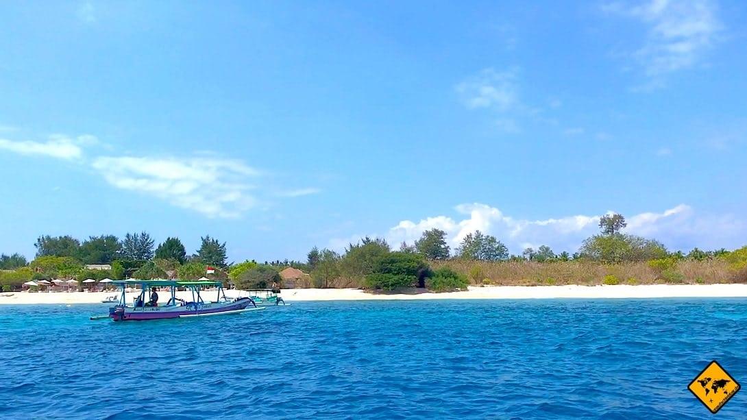 Boot Gili Inseln Strand