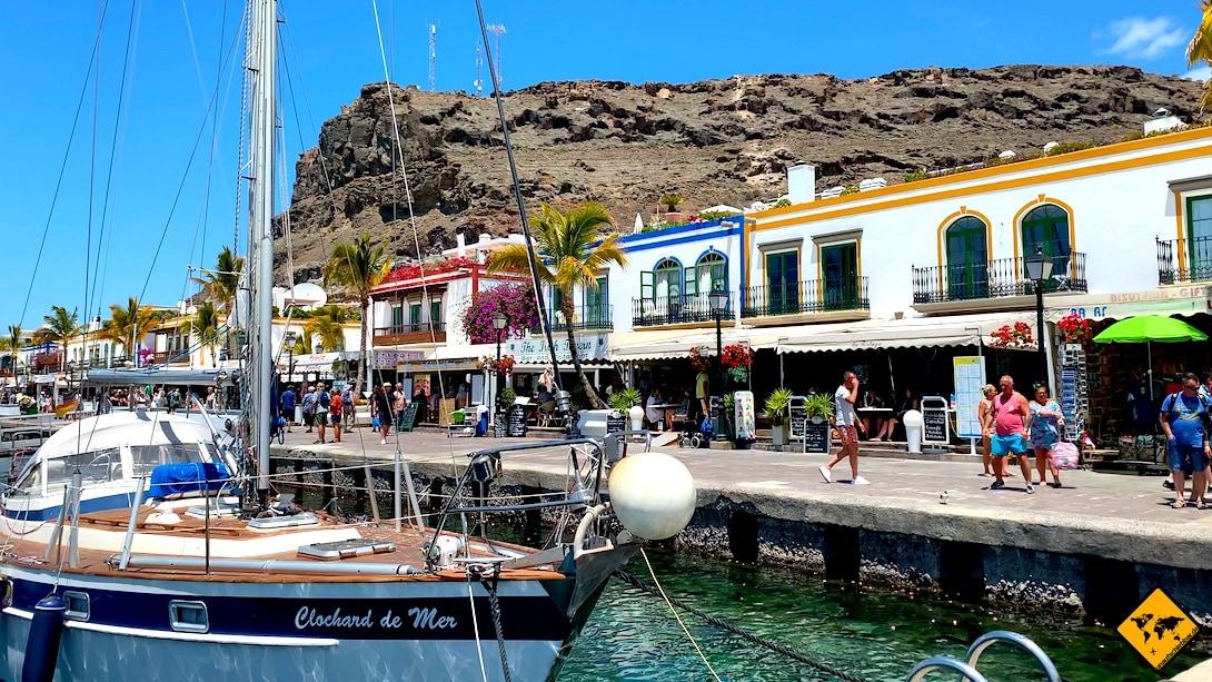 Boot Hafen Puerto de Mogán Unternehmungen auf Gran Canaria