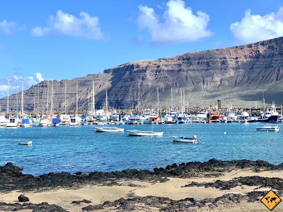 Boote Hafen La Graciosa