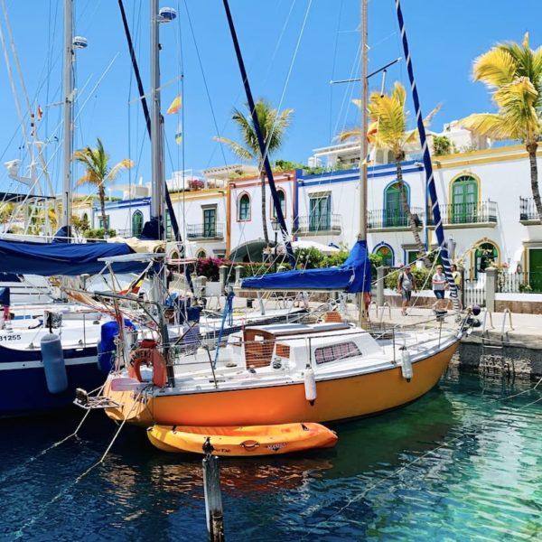 Boote Hafen Mogán Gran Canaria