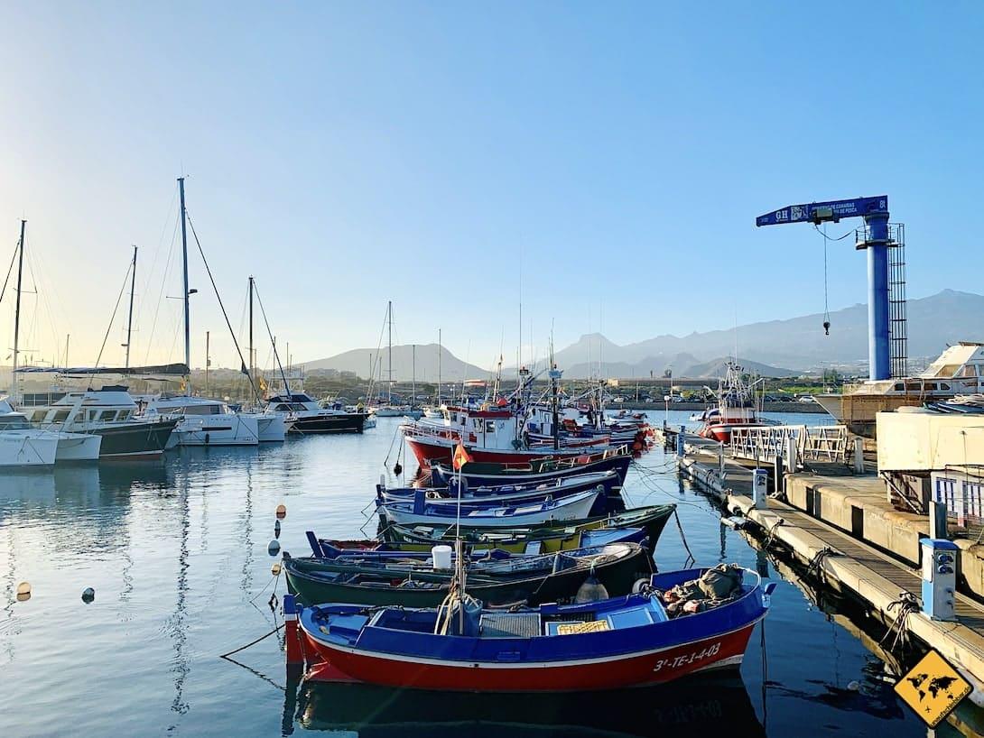 Boote Hafen Teneriffa Las Galletas