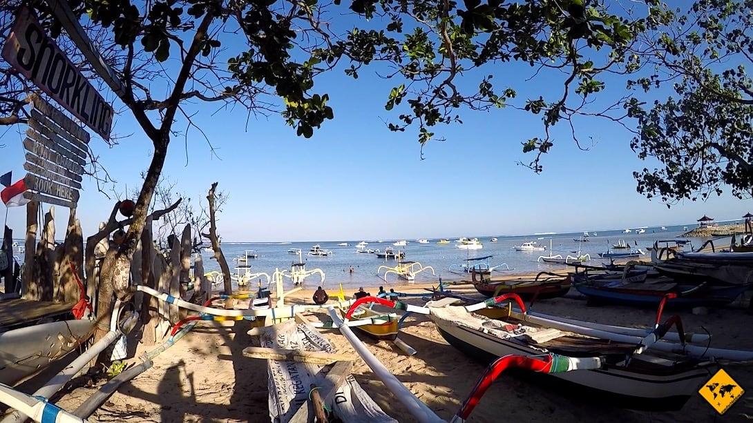 Boote Strand Sanur Bali