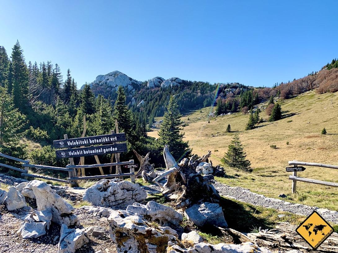 Botanischer Garten Nationalpark nördlicher Velebit Kroatien
