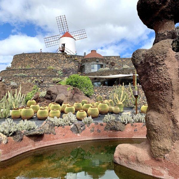 Brunnen Mühle Lanzarote Kakteengarten