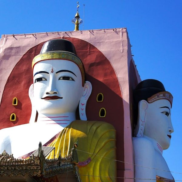 Buddha Figuren Kyaik Pun Pagode Bago Myanmar